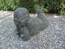 bouddha,coucher statue en pierre patinée, nouveau ,bouddha sholin