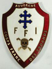 Insigne du corps franc des truands maquis d'Auvergne FFI - Retirage de qualité