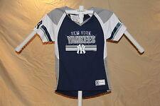 New York NY YANKEES Fan Fashion JERSEY/Shirt  MAJESTIC Womens Large  NWT $55  gp