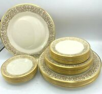 Lenox China Tuscany Gold Dinnerware Set of 24! Dinner,Salad,Bread,Saucers EUC!