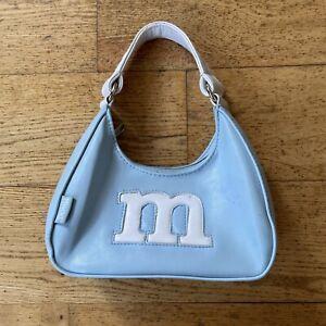 Vintage 90s Y2K Mudd Blue Logo Small Shoulder Bag Purse Zipper Handle