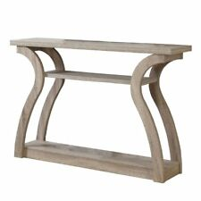 "Monarch Modern 3 Shelf 47"" Wood Console Accent Side End Table in Dark Taupe"