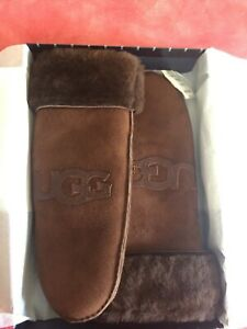 New Real Dyed Ugg Shearling Sheepskin Mittens Size S/M