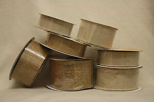 hessian-linen wired edge frayed ribbon natural burlap rustic choose style & size