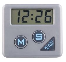Chef Aid Silver Digital Timer Kitchen Gadget Magnetic Stand 99 Minutes 59 Second
