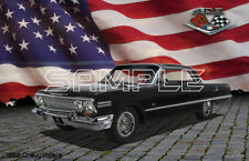 1963 Chevy Impala SS 409 American Muscle Print