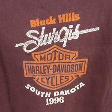 Harley Davidson Motorcycle T-Shirt XL Purple 1996 Black Hills Sturgis So. Dakota