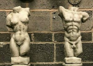 MALE AND FEMALE TORSO STATUE ORNAMENTS,NUDE SCULPTURES INDOOR OUTDOOR PIECES WO