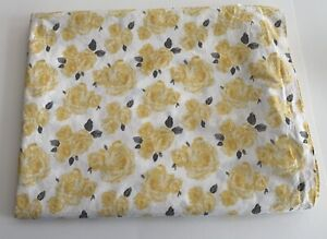 Pottery Barn Teen Emily Meritt Marigold Rose Floral Yellow Twin Flat Sheet