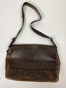 #322 Shinola E/W Messenger Premium Navigator Leather  RETAILS $795