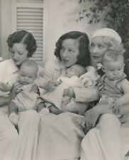 ARLINE JUDGE HELEN TWELVETREES & Babies CANDID Vintage 1930s Paramount Photo