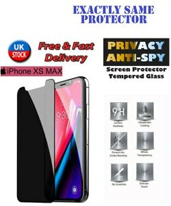 ANTI SPY/PRIVACY TEMPERED GLASS  SCREEN PROTECTOR FOR IPHONE XS Max