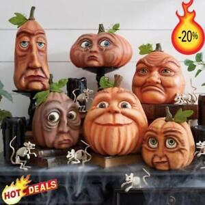 Halloween Pumpkin Head Ornaments, Garden Pumpkin Head Old Man, Pumpkin Decor
