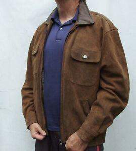 Vintage CHEVIGNON Real SUEDE LEATHER Harrington type Jacket Size XL
