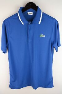 Lacoste Sport Men Polo Shirt Casual Active Polyester Blue size 4 / M