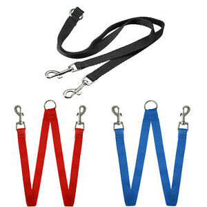 Double Dog Lead Coupler Reflective Nylon Training Lead for 2 Dogs 66CM LONG