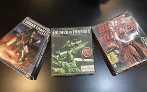 Urban Chaos (PC, 1999) Blade Runner, Soldier Of Fortune Vintage Pc Game Lot