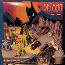McDonalds Happy Meal Batman Animated Series Toys And Display RARE