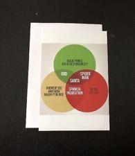 Funny Venn Diagram Blank Greeting Card