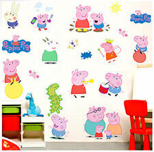 NEW Peppa Pig Wall Stickers Decal Vinyl Children Kids Bedroom Home Decoration