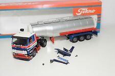 TEKNO SCANIA 142H 142 H TRUCK WITH TRAILER TANKER TANK WETRO HOLLAND MINT BOXED