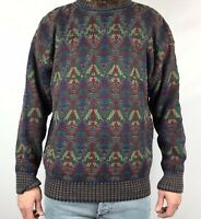 Vintage 90s Pendleton Sweater Men L Large Lobo Aztec Southwestern Hip Hop Biggie