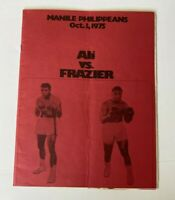 MUHAMMAD ALI vs JOE FRAZIER ORIGINAL PROGRAM MARCH 8, 1971 Thrilla in Manila
