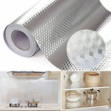 Kitchen Wall Stove Aluminum Foil Oil-proof Stickers Anti-fouling Wall Sticker#