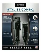 Andis Barber Combo Stylist Combo Black Hair Clipper/ T Outliner Trimmer Combo