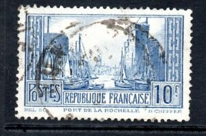 France Stamp 1929-33 SG 474a Type II  10f  Blue Fine Used