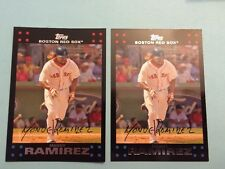 2007 Topps Manny Ramirez Lot of (2)  #315 Boston Red Sox