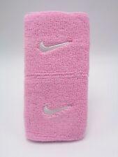 "Nike Swoosh Wristbands Perfect Pink/White 3"" Men's Women's"