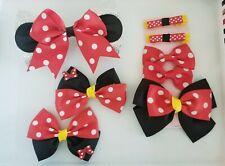 Red Minnie Mouse Bow Set Disney Hair Bows Big Bows