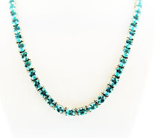 Madagascar Paraiba Apatite (Ovl) Necklace (20 in) Sterling Silver