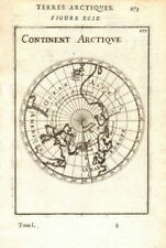 ARCTIC. Terres arctiques. continente Arctique. POLO NORD. Mallet 1683 Old Map