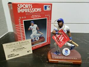 Sports Impressions - BO JACKSON Porcelain Figurine (1990)-MLB Kansas City Royals