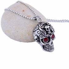 Men's Jewelry Cool Gothic Silver Stainless Steel Huge Skull Pendant Necklace Hot