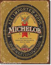 Michelob Lager Label Vintage Weathered Beer Pub Large Metal Tin Sign New 1392