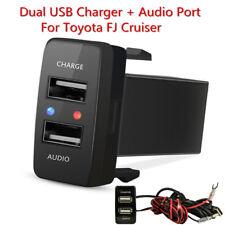 Kfz USB Ladegerät Adapter + Audio Stecker Port For Toyota FJ Cruiser 2007-2011