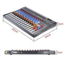ammoon 12 Channels Mic Line Audio Mixer Mixing Console USB XLR Input V2R2