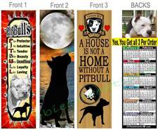 3 Lot- PIT BULL 2019 CALENDAR BOOKMARK Pitbull Rules Lover Dog CARD Perfect Gift