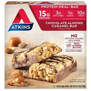Atkins Protein Meal Bar, Chocolate Almond Caramel, Keto Friendly