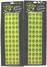 LOT OF 2 NEW PAWZ FOR SAFETY 4 PACK RE-USABLE REFLECTIVE STICKERS DOG PAW PRINT