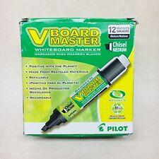 Pilot V Board Master Whiteboard Markers Black Chisel Med 43914 11pk New