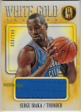 2013-14 GOLD STANDARD WHITE GOLD THREADS #50: SERGE IBAKA #56/199 OKC THUNDER