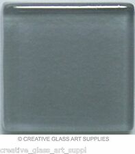 50 ct - 3/8 inch Gray Glass Mosaic Tiles