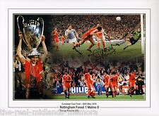 Trevor Francis SIGNED Montage 16in x 12in 1979 European Cup Nottingham Forest