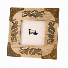 Western Decor Lodge Cabin Western 4x4 Picture Frame