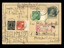 GERMANY REGISTERED POSTCARD STATIONERY 1948 UPRATED