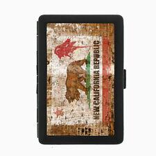 California Bear Flag D7 Black Cigarette Case / Metal Wallet Republic Cali Flag